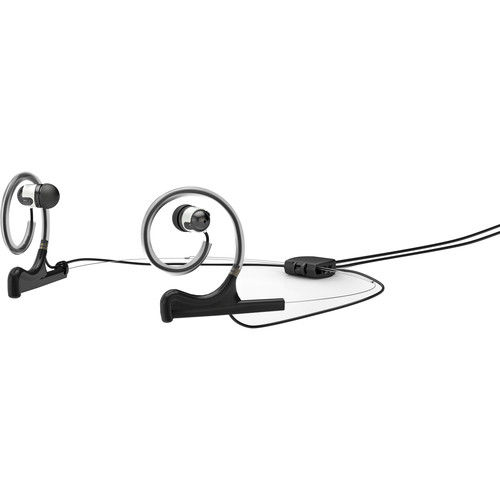 DPA Microphones d:fine Dual-Ear Headset Mount with Dual In-Ear Monitor and Monitor Cable (Black)
