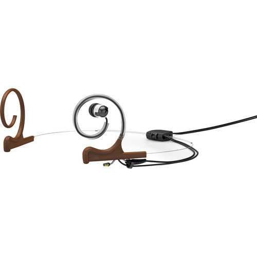 DPA Microphones d:fine In-Ear Broadcast Headset Mount, Dual-Ear, Single In-Ear with MicroDot Cable (Brown)