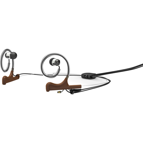 DPA Microphones d:fine Dual-Ear Headset Mount with Dual In-Ear Broadcast Headset and Monitor Cable (Brown)