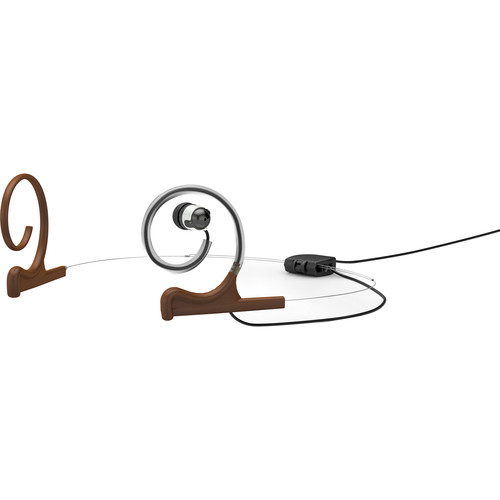 DPA Microphones d:fine In-Ear Broadcast Headset Mount, Dual-Ear, Single In-Ear (Brown)