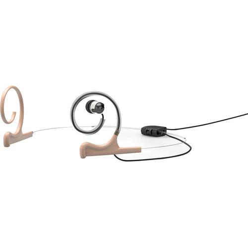 DPA Microphones d:fine In-Ear Broadcast Headset Mount, Dual-Ear, Single In-Ear (Beige)