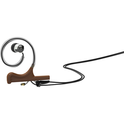 DPA Microphones d:fine In-Ear Broadcast Headset Mount, Single-Ear, Single In-Ear with Hardwired 3.5mm Connector (Brown)