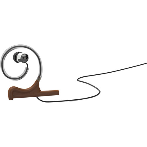 DPA Microphones d:fine Single-Ear Headset Mount with Single In-Ear Broadcast Headset and Monitor Cable (Brown)