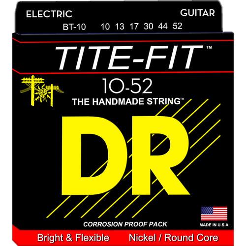 DR Strings Tite Fit - Electric Guitar Strings (Big & Heavy Gauge, 6-String Set)