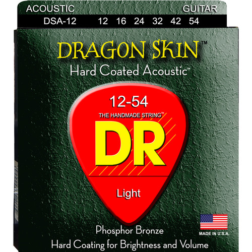 DR Strings K3 Dragon Skin - Acoustic Guitar Strings (Medium, 6-String Set)