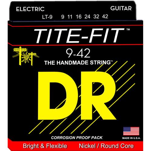 DR Strings Tite Fit - Electric Guitar Strings (Lite Gauge, 6-String Set)