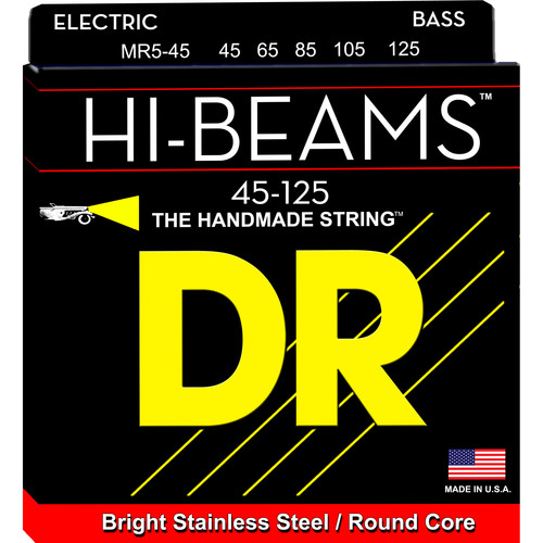 DR Strings Hi-Beam Stainless Steel Electric Bass Guitar Strings