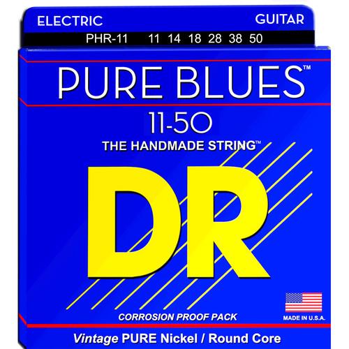 DR Strings Pure Blues Nickel Electric Guitar Strings (Heavy, 11-50 Gauge)