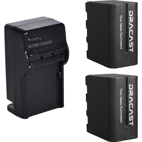 Dracast 2x NP-F 6600mAh Batteries and Charger Kit