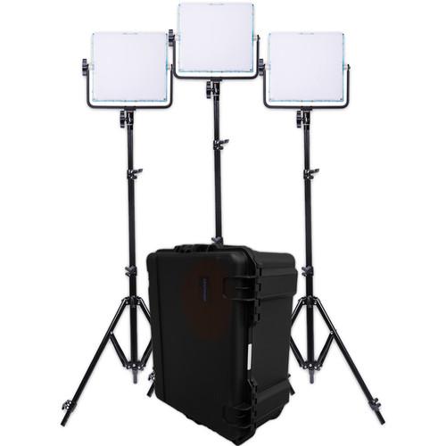 Dracast 728 RGBW LED Panel 3-Light Kit