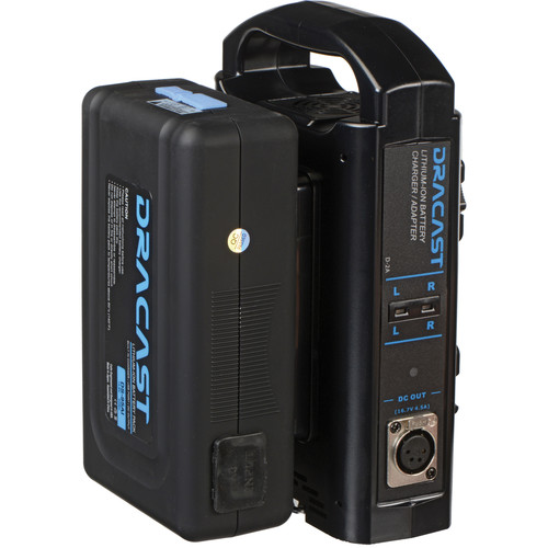 Dracast 90Wh 14.8V Lithium-Ion Gold Mount Battery & Dual Battery Charger Bundle