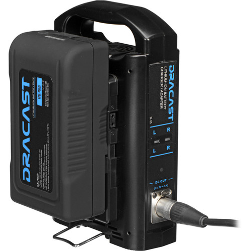 Dracast 90Wh 14.8V Lithium-Ion V-Mount Battery & Dual Battery Charger Bundle
