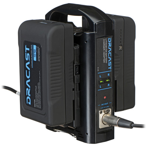 Dracast Dual Charger with Two 90Wh V-Mount Batteries