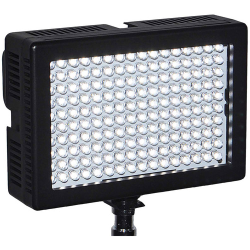 Dracast LED160 3200K Tungsten On-Camera Light Plastic Black with Battery & Charger