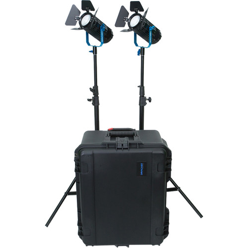 Dracast Boltray 600 Plus Daylight LED 2-Light Kit with Case
