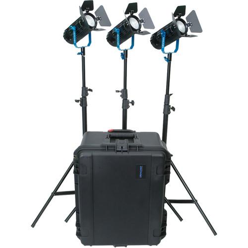 Dracast BoltRay LED400 Plus Bi-Color LED 3-Light Kit with Case