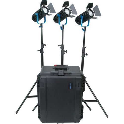 Dracast Boltray LED400 Plus Daylight LED 3-Light Kit with Case