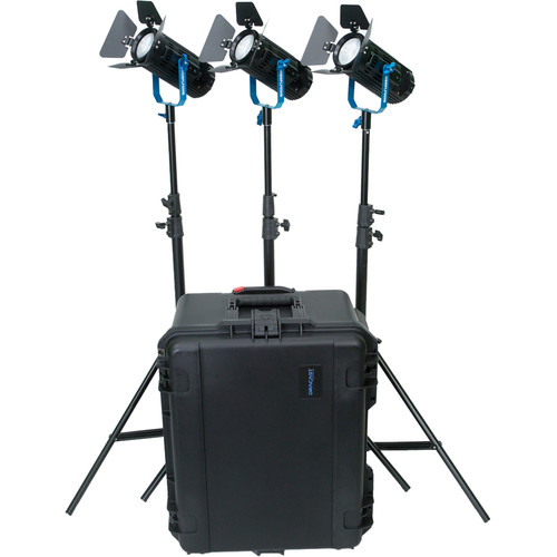 Dracast BoltRay LED600 Plus Bi-Color LED 3-Light Kit with Case