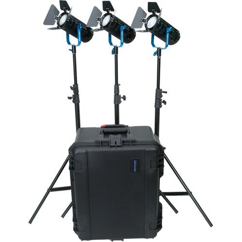 Dracast Boltray 600 Plus Daylight LED 3-Light Kit with Case