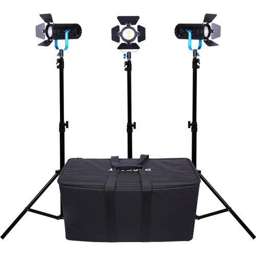 Dracast BoltRay 600 Plus Daylight LED 3-Light Kit with Soft Case