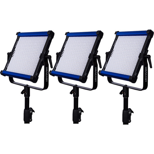 Dracast Cineray Series X1 LED Daylight Panel 3-Light Kit