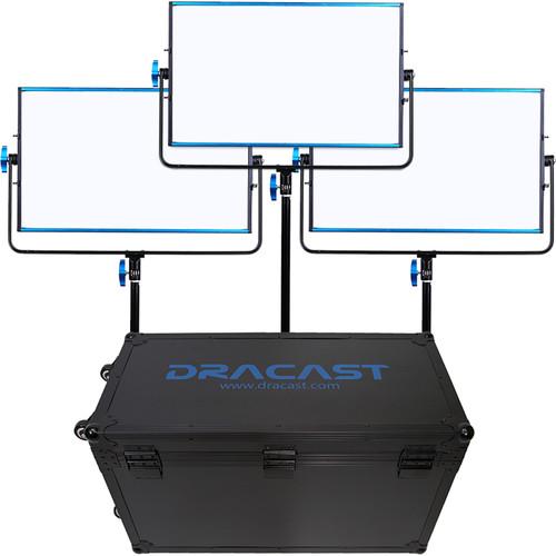 Dracast LED1000B Silq Bi-Color LED 3-Light Kit