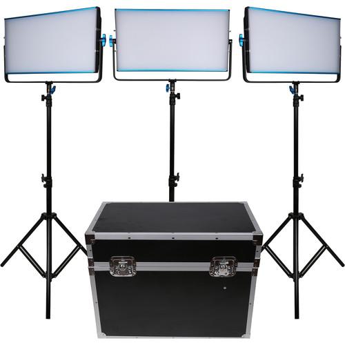 Dracast LED3000B Silq Bi-Color LED 3-Light Kit