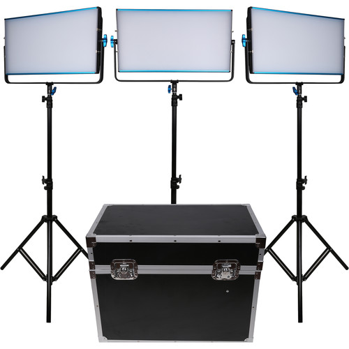Dracast LED3000B Silq Bi-Color LED 3-Light Kit