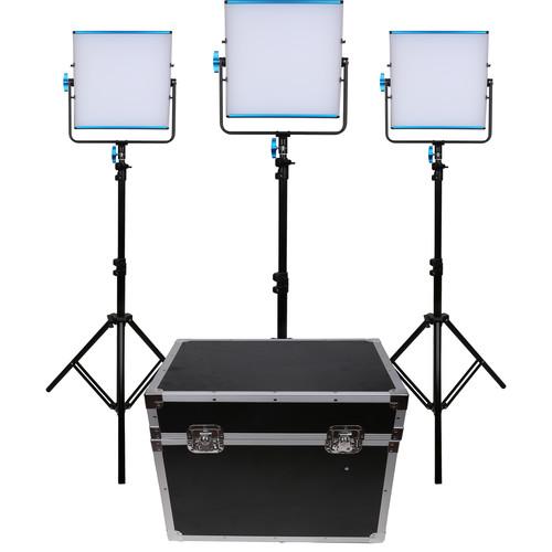 Dracast LED500B Silq Bi-Color LED 3-Light Kit