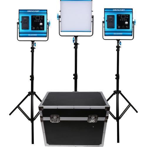 Dracast LED500D Silq Daylight LED 3-Light Kit