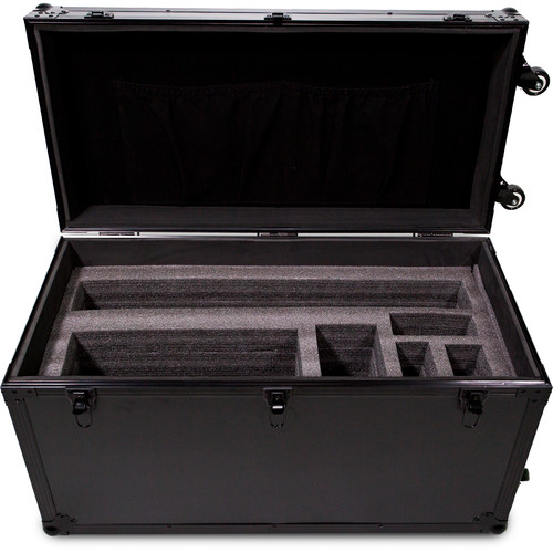 Dracast Hard Side Travel Case with Wheels (Black, Medium)