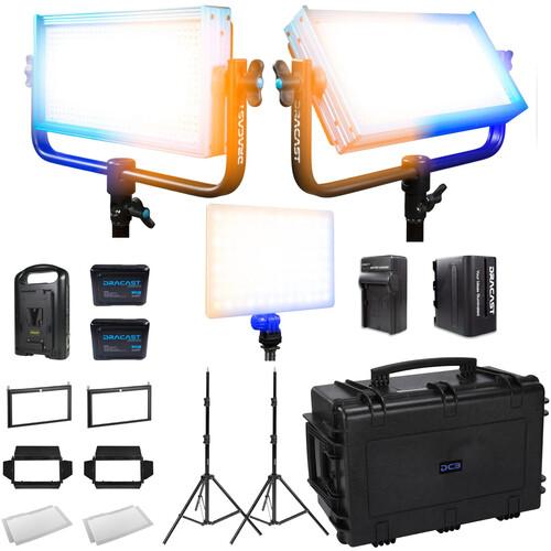 Dracast Interview Plus 3-Light Kit (Bi-Color)
