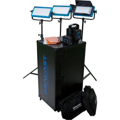 Dracast DV/G PLUS LED Daylight 3-Light Location Kit