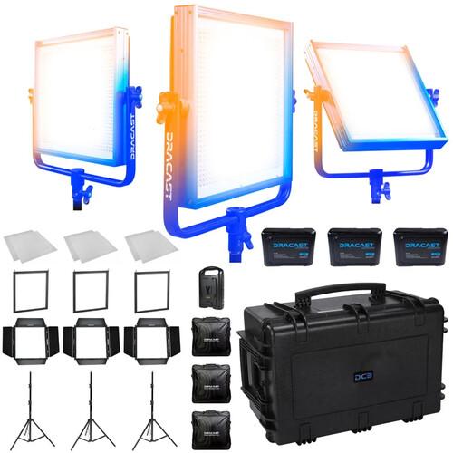 Dracast Newsroom Plus 3-Light Kit (Bi-Color)