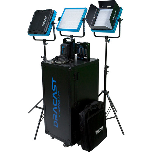 Dracast DV/G PLUS LED Daylight 3-Light Newsroom Kit