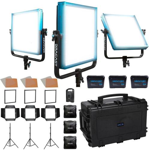 Dracast Newsroom Plus 3-Light Kit (Daylight)