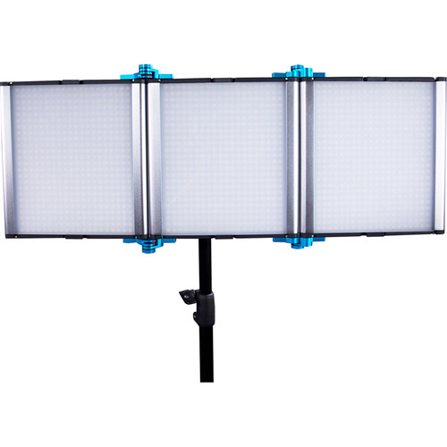 Dracast Silver Series LED1500 Bicolor Foldable Panel with V-Mount Battery Plate
