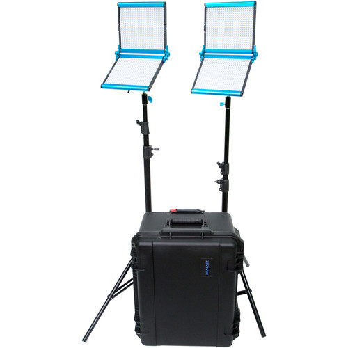 Dracast Silver Series Foldable LED1000 Daylight 2-Light Kit