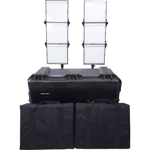Dracast Silver Series LED1500 Foldable Daylight LED 2-Light Kit