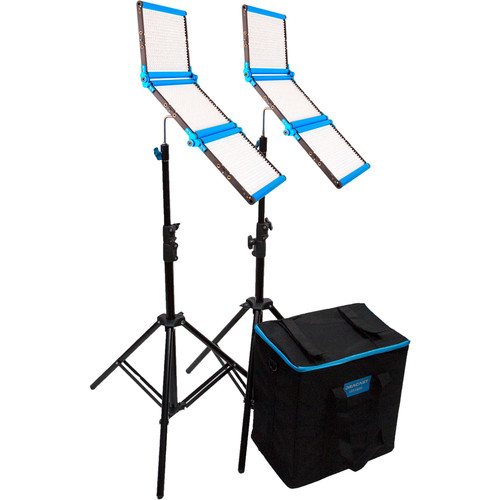 Dracast Silver Series LED1500 Daylight Foldable 2-Light Kit with Soft Case