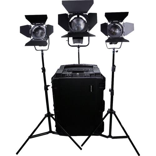 Dracast LED1400 Fresnel Daylight LED 3-Light Kit