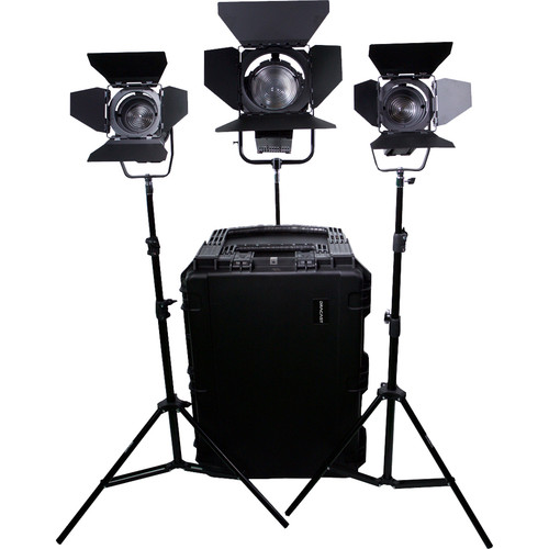 Dracast Dracast Led1700 Fresnel 3-Light Kit