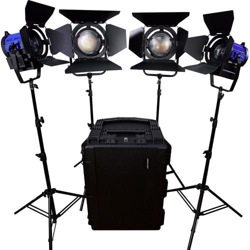 Dracast Dracast Led3000 Fresnel 4-Light Kit