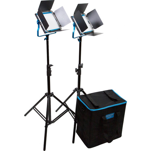 Dracast Silver Series LED500 Bi-Color 2-Light Kit with Soft Case