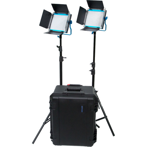 Dracast S-Series LED500 Plus Bi-Color LED 2-Light Kit with V-Mount Battery Plates