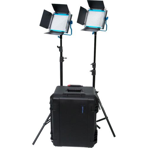 Dracast S-Series LED500 Plus Daylight LED 2-Light Kit with V-Mount Battery Plates