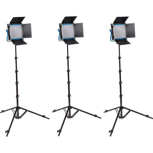 Dracast S-Series LED500 Plus Bi-Color LED 3-Light Kit with NP-F Battery Plates