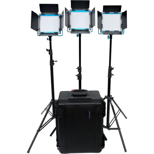Dracast S-Series LED500 Plus Daylight LED 3-Light Kit with V-Mount Battery Plates
