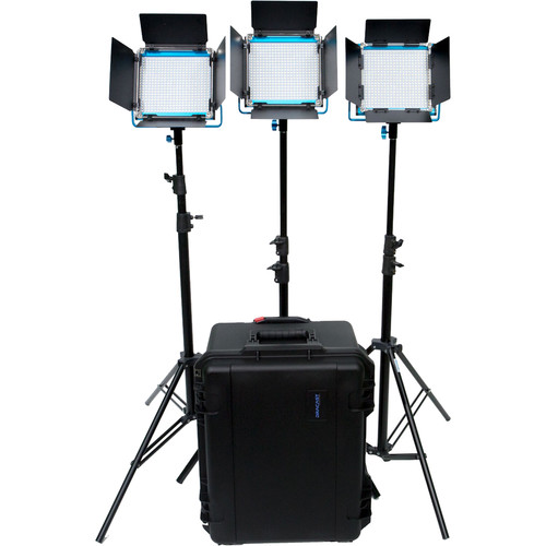 Dracast S-Series LED500 Plus Daylight LED 3-Light Kit with V-Mount Battery Plates