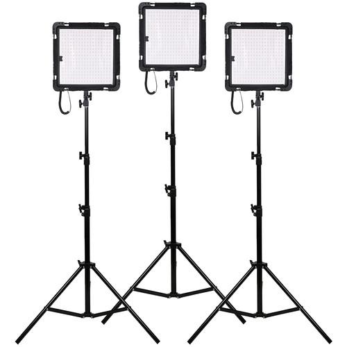 Dracast 3X Yoga Led500 Flexible Panel Light Kit (Daylight)